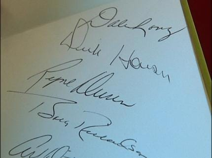 Tulsa Woman Gets Kiss And Autograph From George Steinbrenner