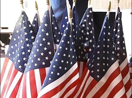 Flag Retirement Ceremony Held At Tulsa's Mohawk Park