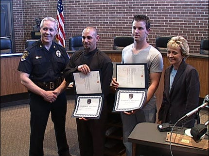 Broken Arrow Police Honor Citizens Who Chased Down Suspect