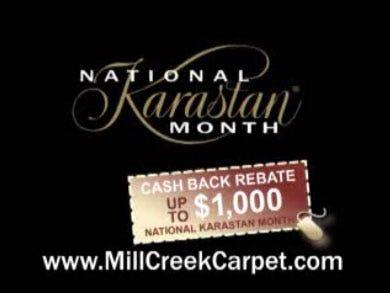 Mill Creek Carpet - National Karastan Month