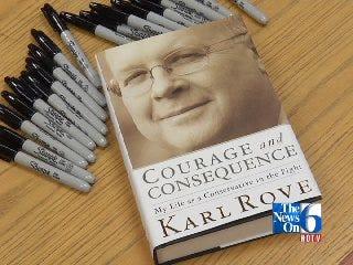 Bush Advisor Karl Rove Interviewed at Tulsa Book Signing.