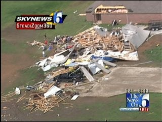 SkyNews6 Flies Over Storm Damage In Green Country