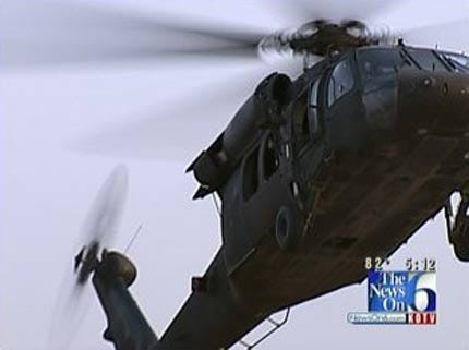 Oklahoma Troops Hunt For Weapons Smugglers