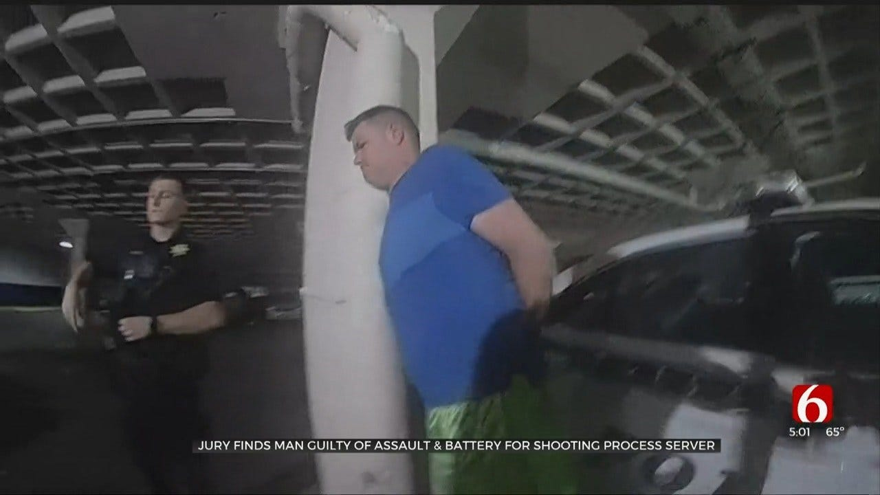 Tulsa Co. Jury Finds Man Guilty Of Assault, Battery For Shooting Process Server