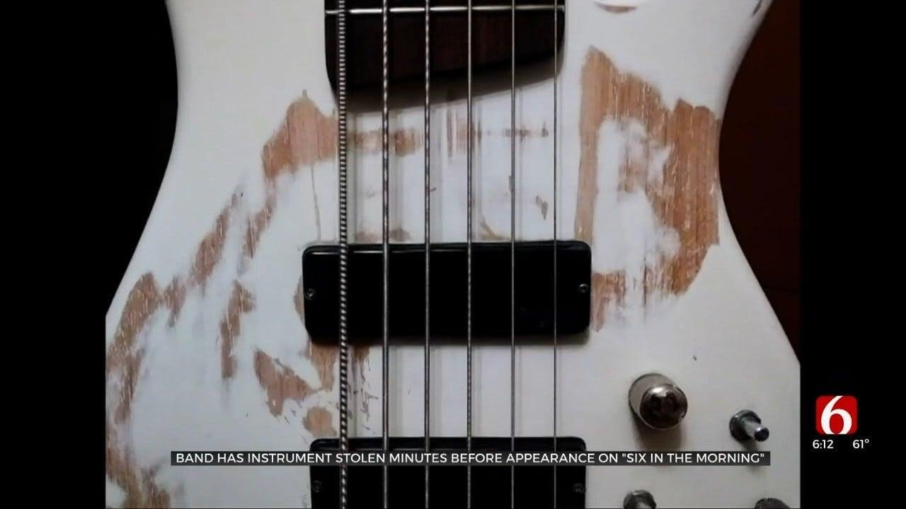 Tulsa Band's Bass Guitar Stolen After Car Break-In