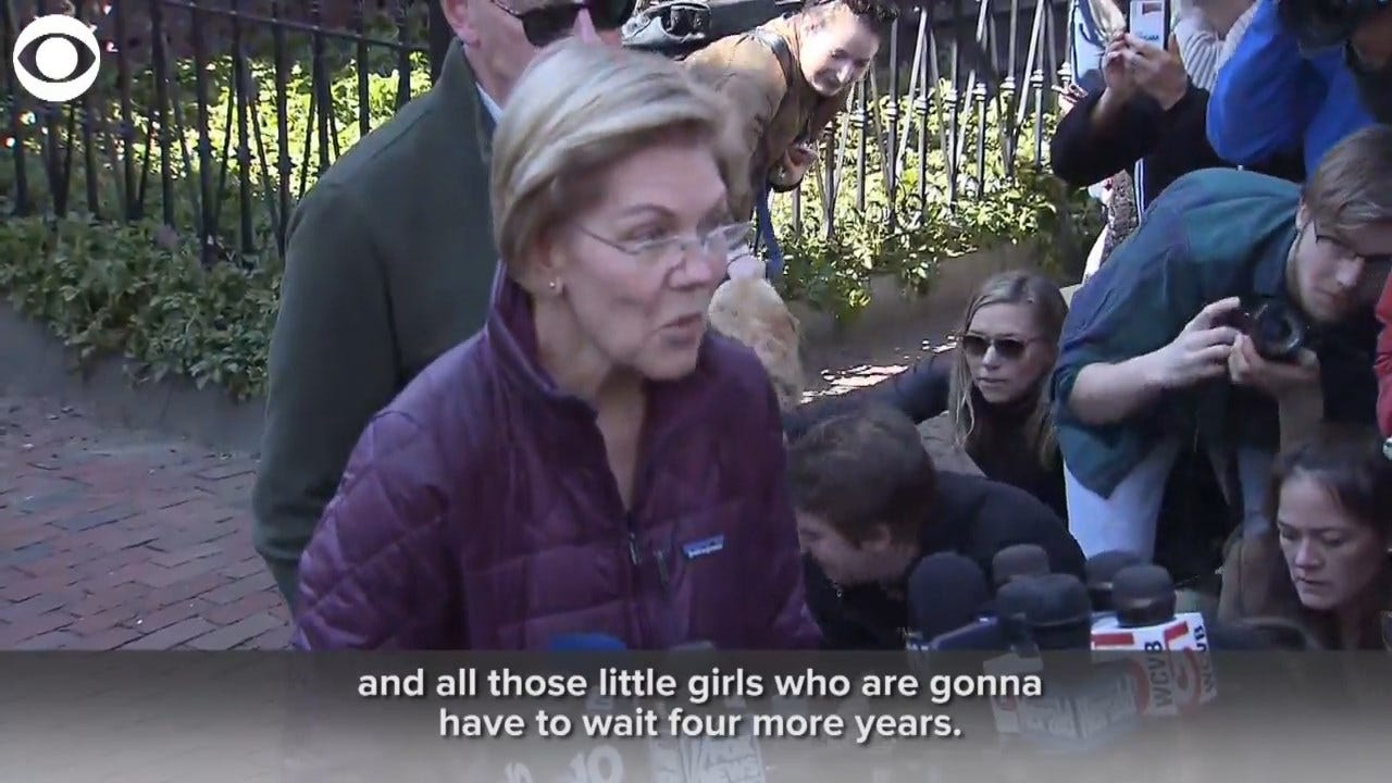 Sen. Warren: One Of Hardest Parts Of Dropping Out 'Is All Those Pinky Promises'