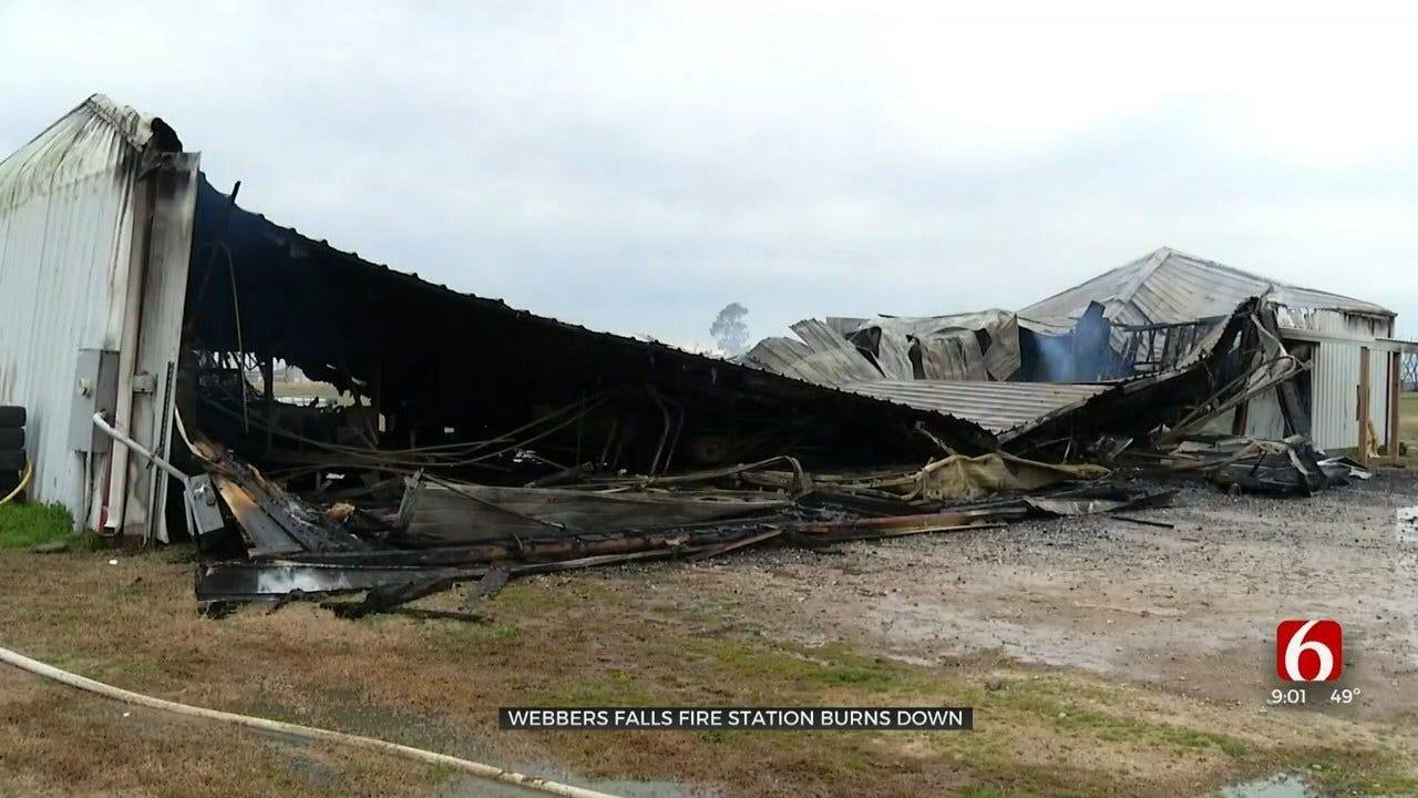 Webbers Falls Fire Department Equipment Building Destroyed After Fire