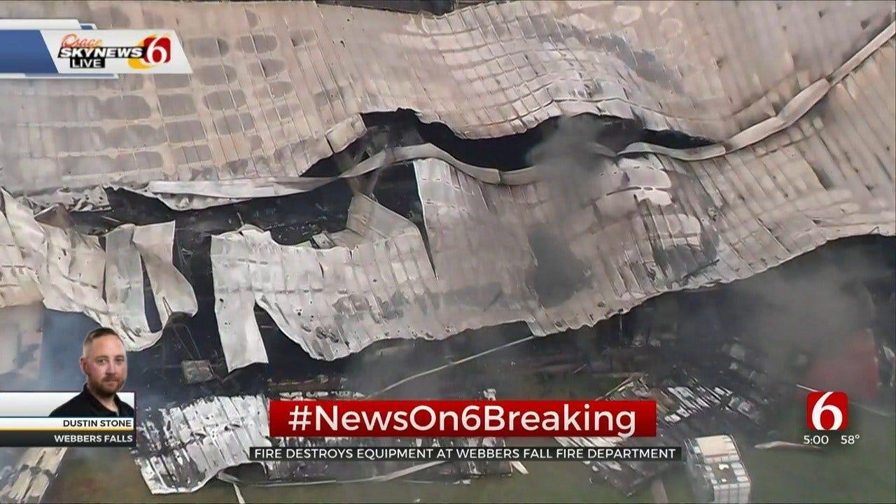 Fire Destroys Webbers Falls Fire Department Equipment Building