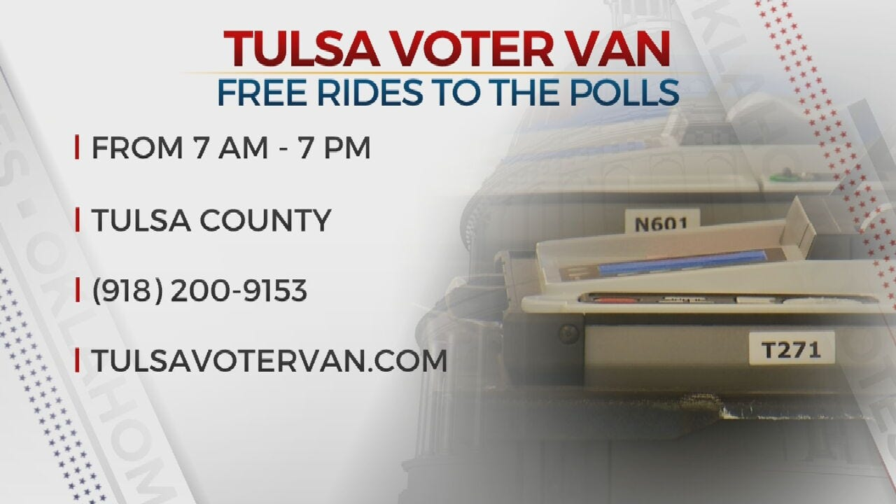 Tulsa Voter Van Offers Free Rides To Polling Places