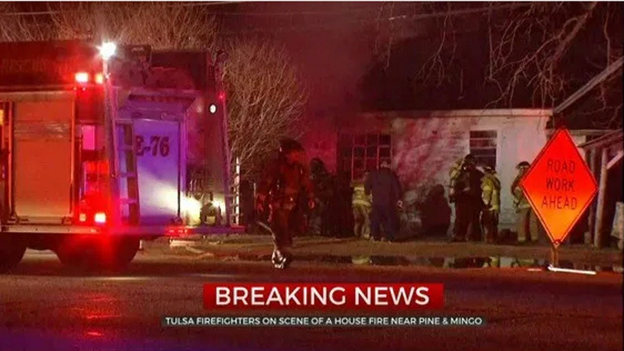 Tulsa Firefighters Investigate Cause Of Vacant House Fire