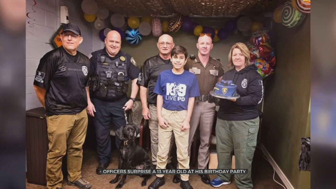 Oklahoma Law Enforcement Officers Grant Bristow Boy's Birthday Wish