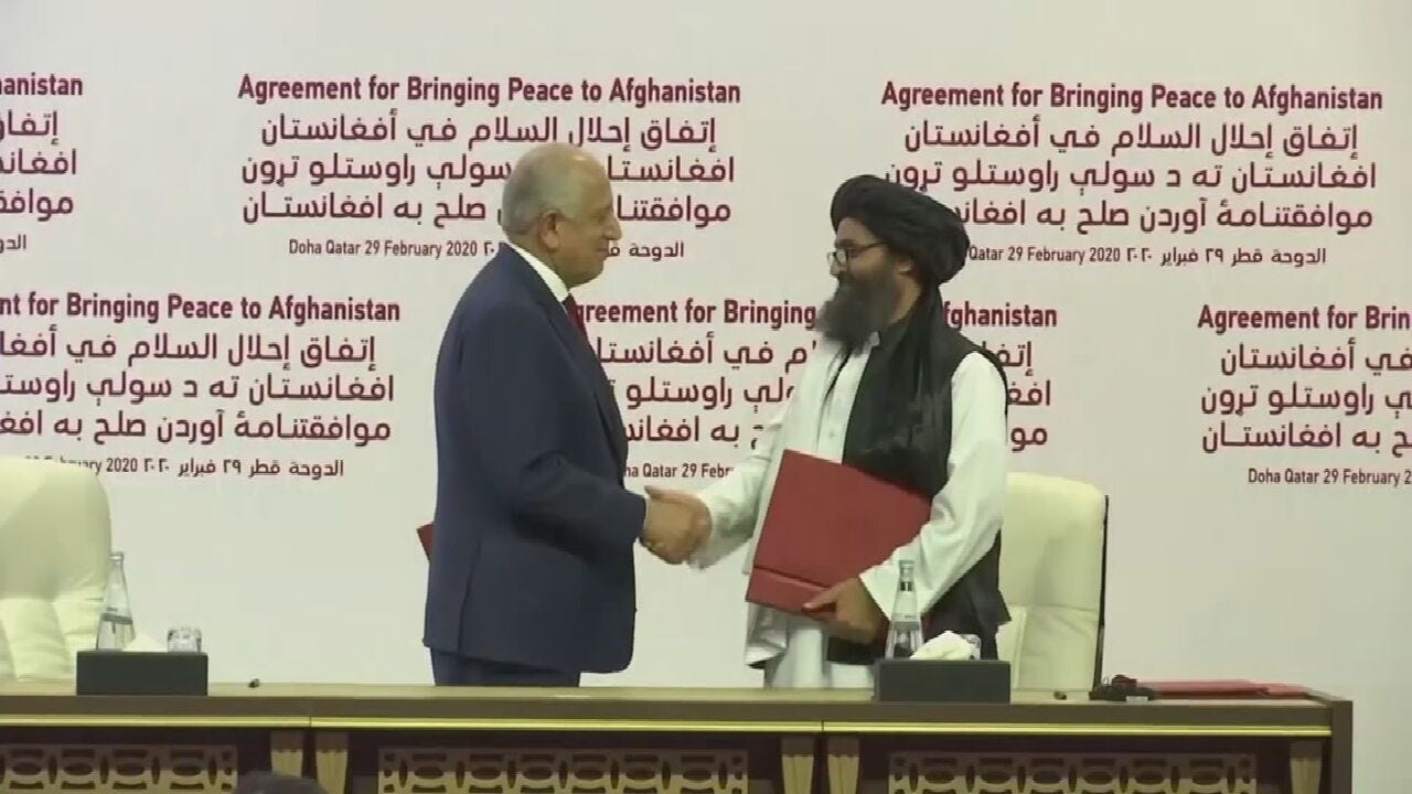 U.S. Signs Deal With Taliban Aimed At Ending War In Afghanistan