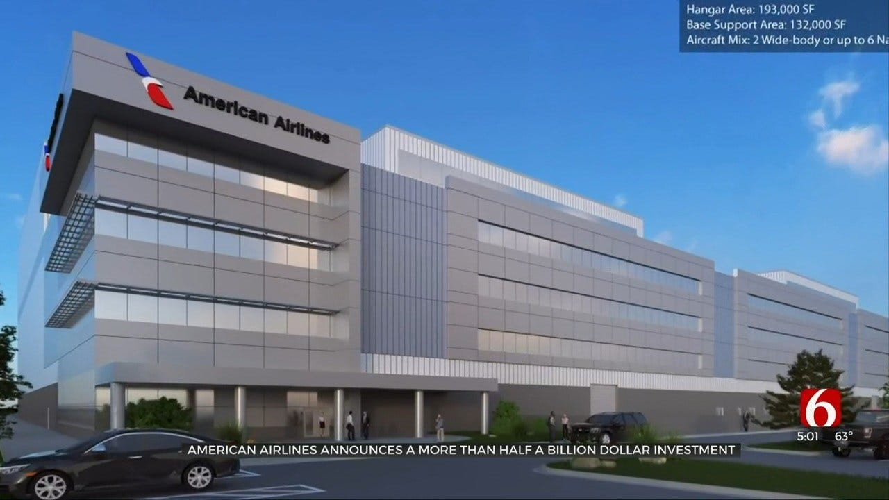 American Airlines Announces More Than $550 Million Investment For New Oklahoma Facilities