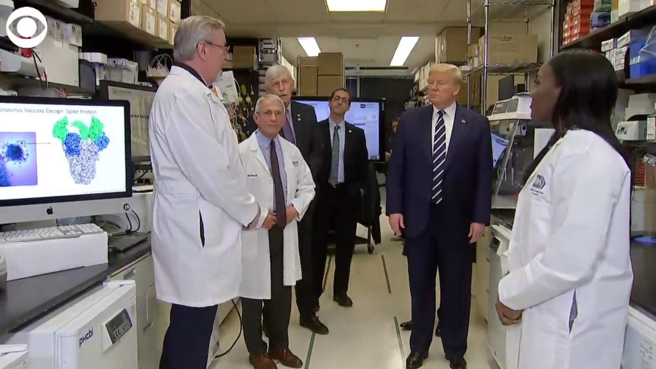 WATCH: President Trump Speaks With Researchers About Possible Coronavirus Vaccine