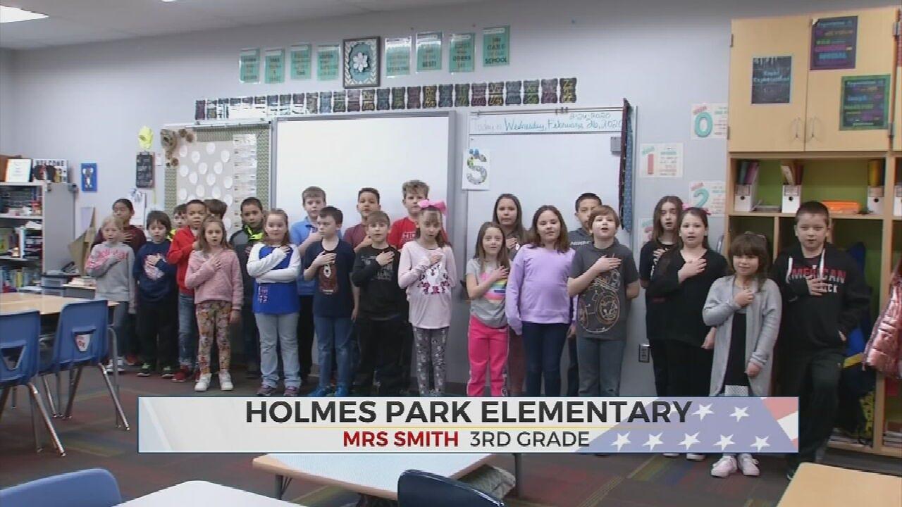 Daily Pledge: Holmes Park Elementary