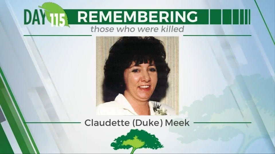 168 Day Campaign: Claudette (Duke) Meek