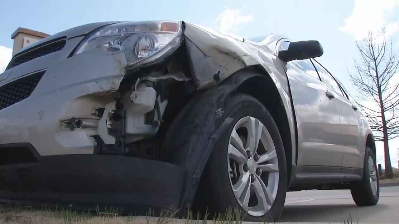 Woman's Car Struck By Suspect In Stolen Vehicle Chase