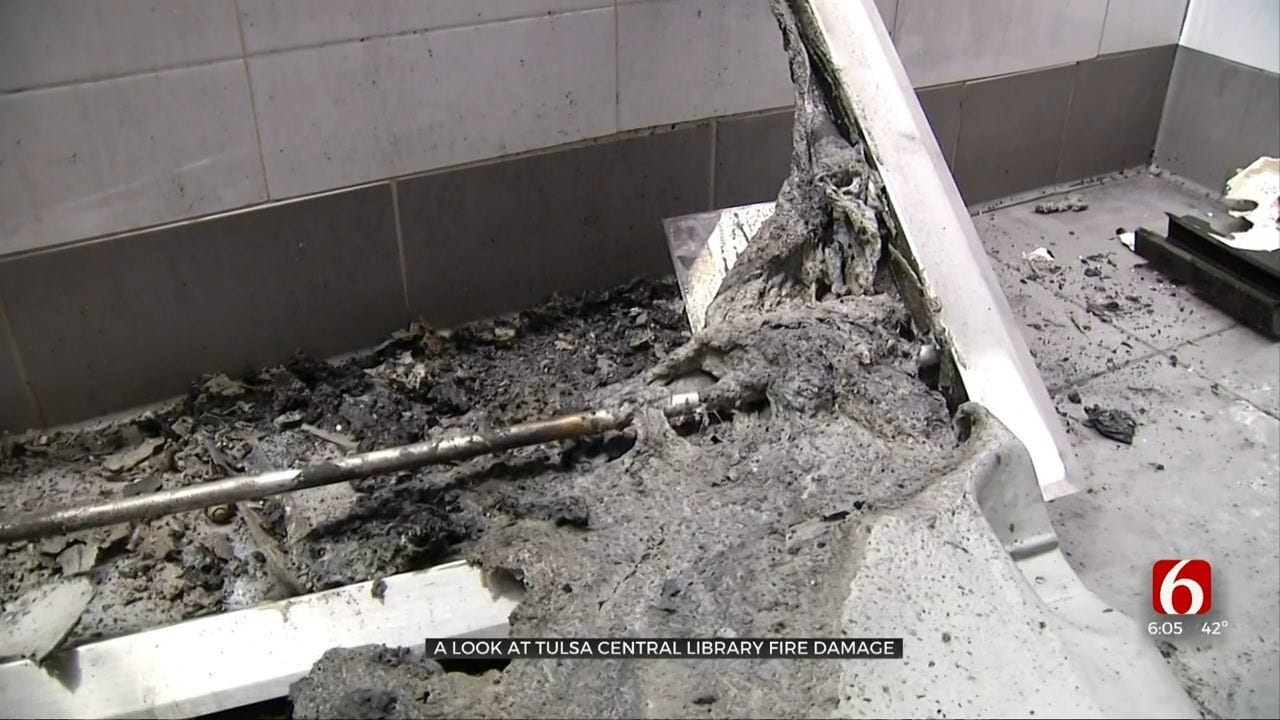 Tulsa Central Library Release New Details On Fire Damages