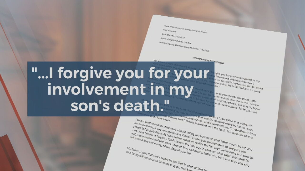 Mother Of Rogers Co. Murder Victim Forgives Men Who Killed Her Son