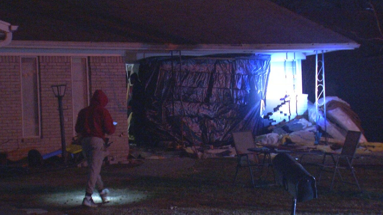 Driver Crashes Into Tulsa Home After Police Chase