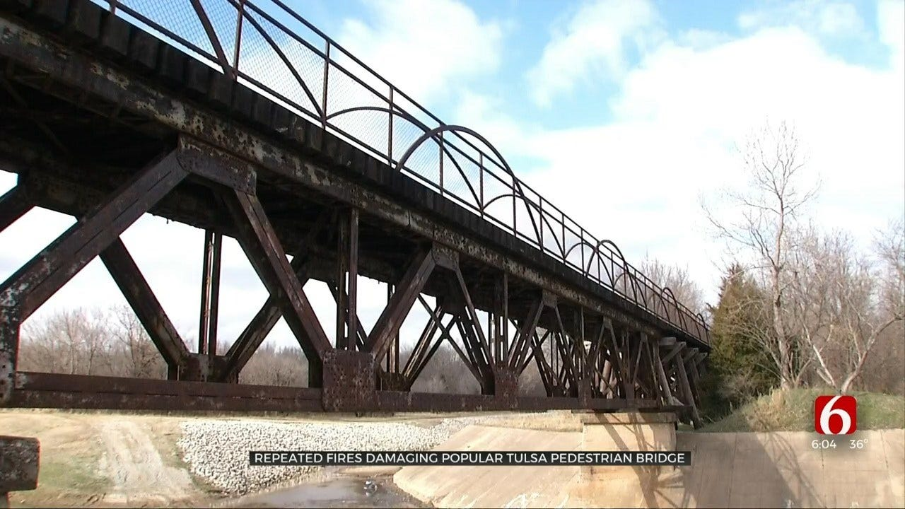Firefighters Trying To Find Who Is Responsible For Repeatedly Setting Tulsa Bridge On Fire