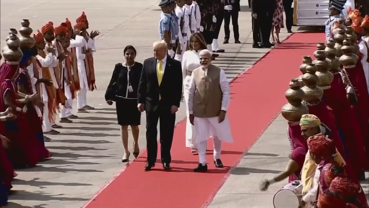 President Trump Met With Large Crowds During Two-Day Visit To India