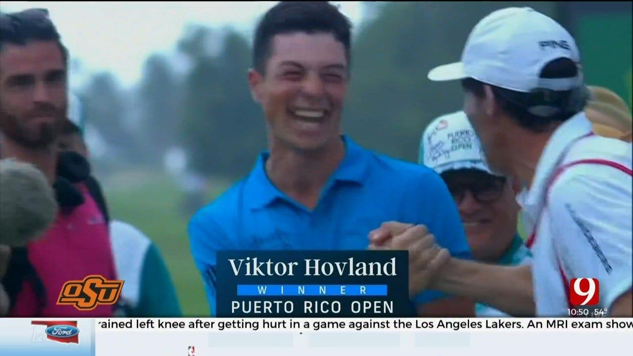 OSU Alum Viktor Hovland Becomes First Norwegian To Win PGA Tour Event