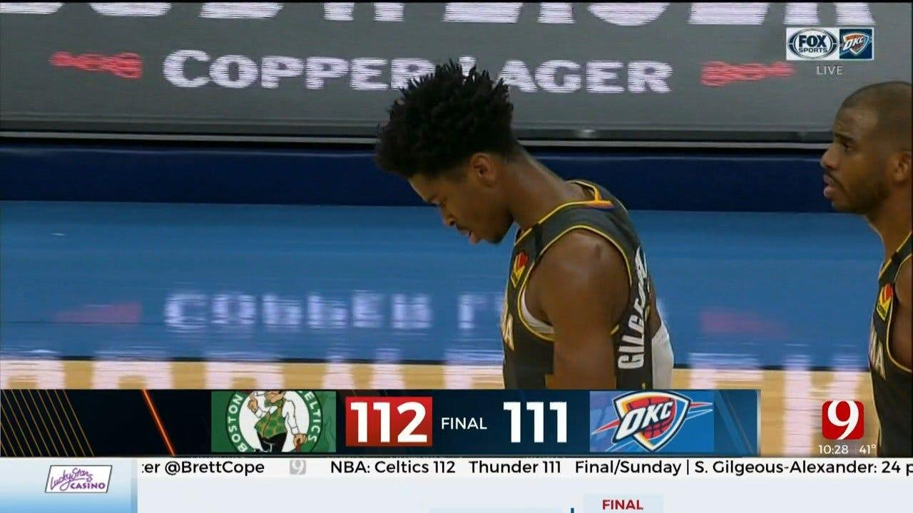 Thunder Falls To Celtics On Sunday Afternoon