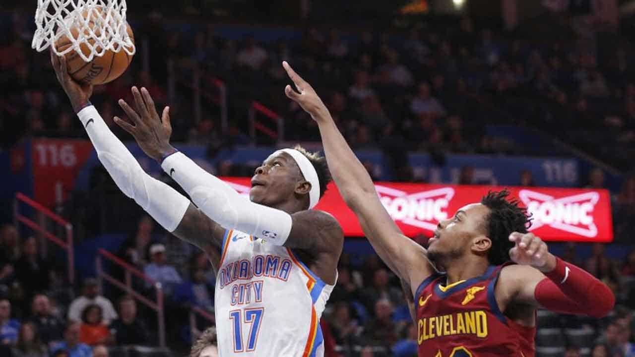 Schroder Scores 30, Leads Thunder Past Cavaliers 109-103