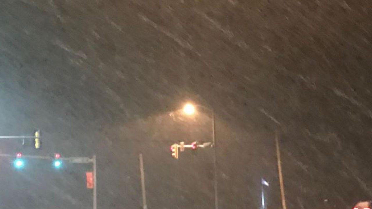 WATCH: News On 6's Joseph Holloway Checks Winter Weather In Skiatook Area