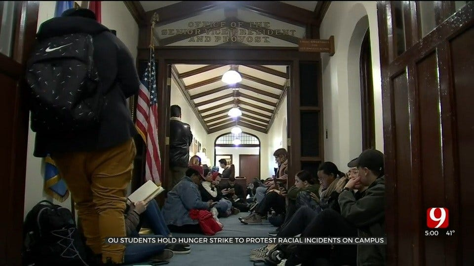 OU Students Hold Hunger Strike In Protest Of Racial Incidents On Campus