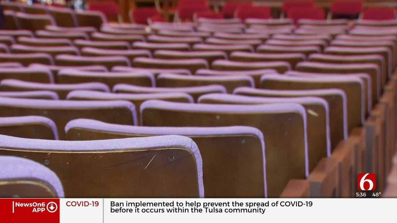 Church Members Hold Makeshift Service Due To Coronavirus Concerns