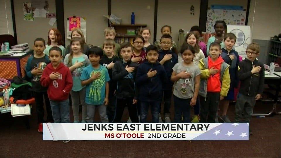 Daily Pledge: Jenks East Elementary