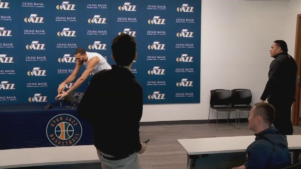 WATCH: Utah Jazz Player Touches Mics Before Testing Positive For Coronavirus