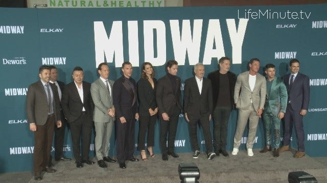 Midway Stars Patrick Wilson, Nick Jonas, Woody Harrelson and Mandy Moore Pay Homage to our Veterans