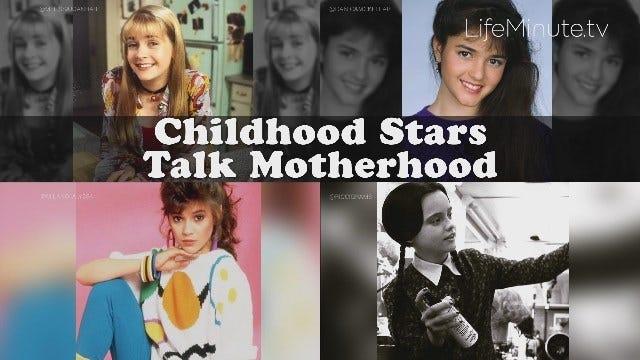 Alyssa Milano, Melissa Joan Hart, Danica McKellar and Christina Ricci on Motherhood