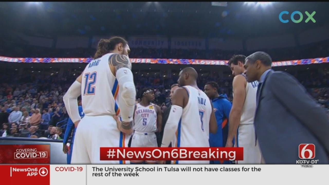 OKC Thunder Game Canceled, NBA Suspends Season After Jazz Player Tests Positive For Coronavirus (COVID-19)