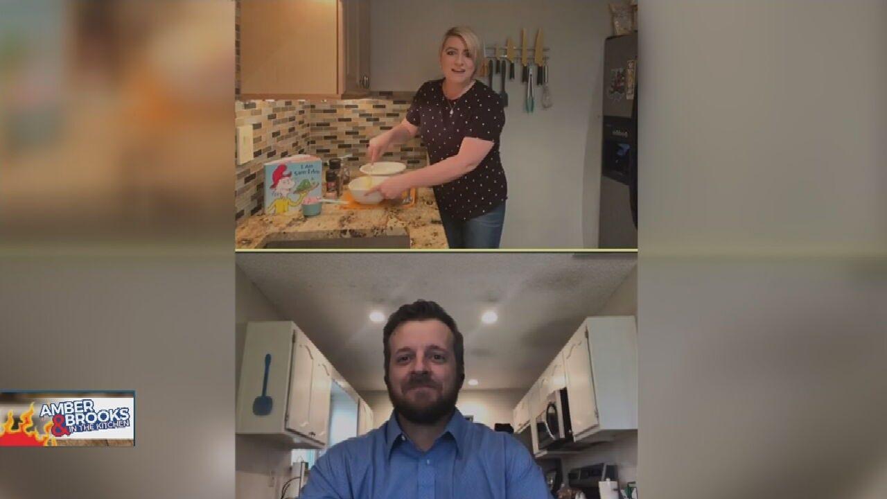 Amber & Brooks In The Kitchen: Green Eggs & Ham Salad
