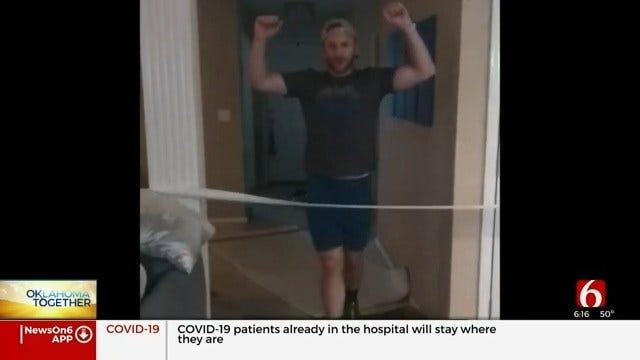 Oklahoma Man Runs Marathon While At Home