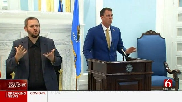 Oklahoma's Safer-At-Home Order Extended To May 6, Gov. Stitt Says