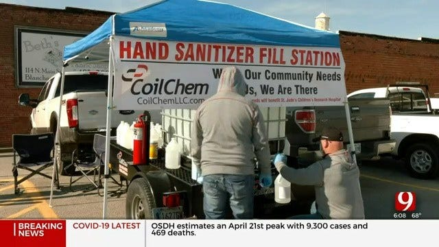 Companies Provide Drive-Thru Hand Sanitizer, Disinfectant Stations For Metro Residents