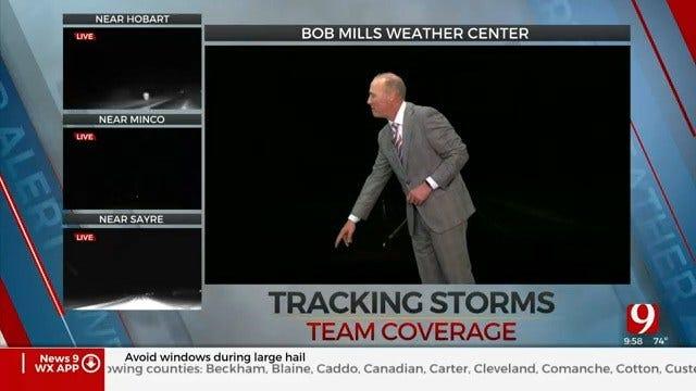 WATCH: Baseball-Sized Hail Causes Damage In Washita County