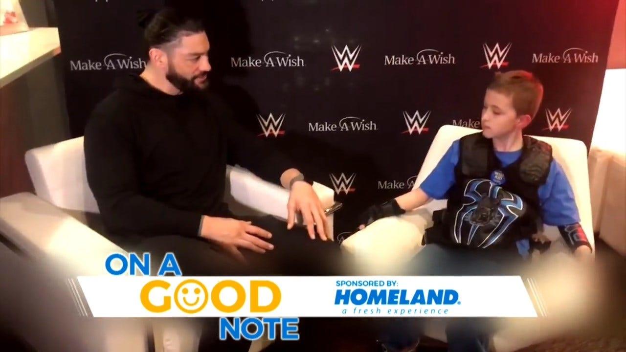 On A Good Note: Cashion Boy Gets To Meet WWE Wrestler