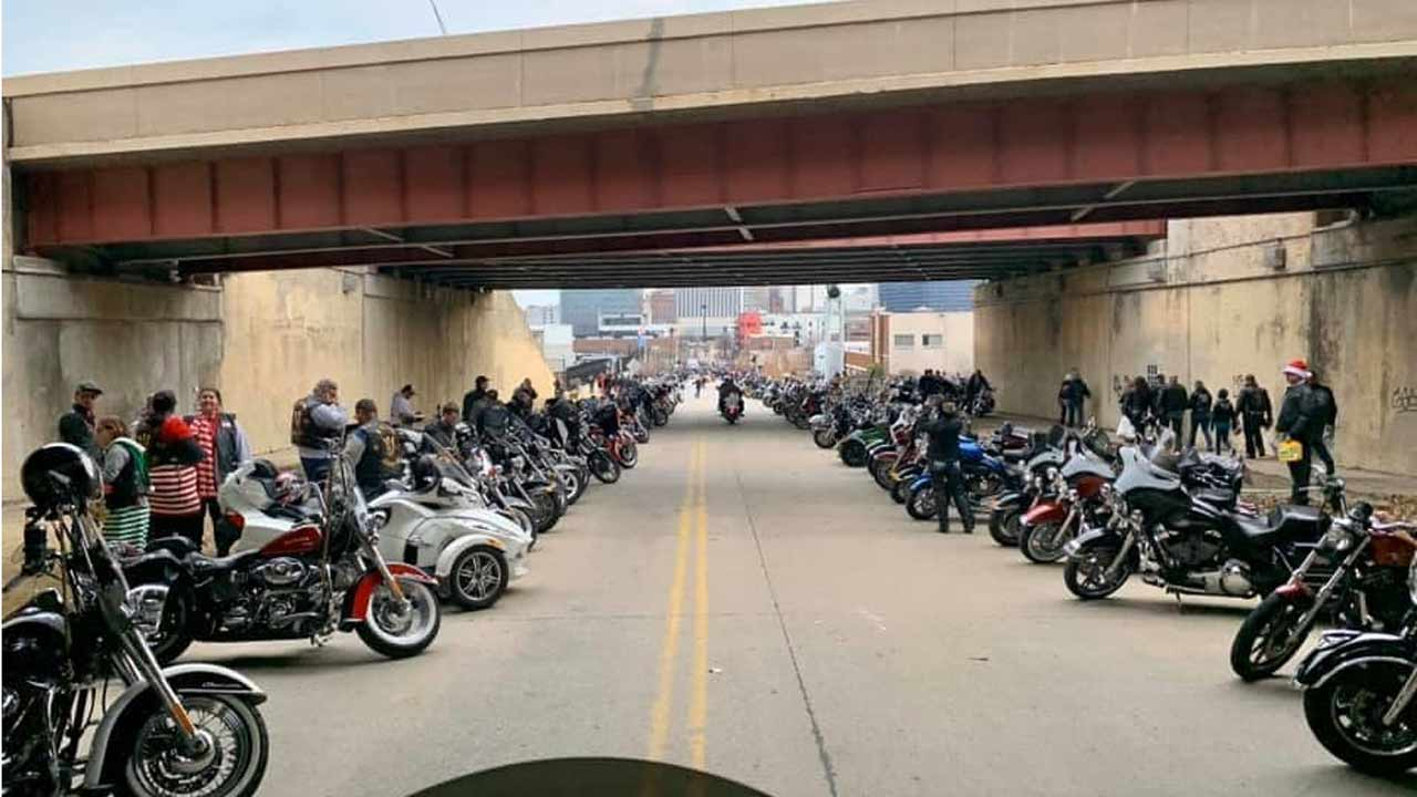 Biker Parade for Healthcare Workers