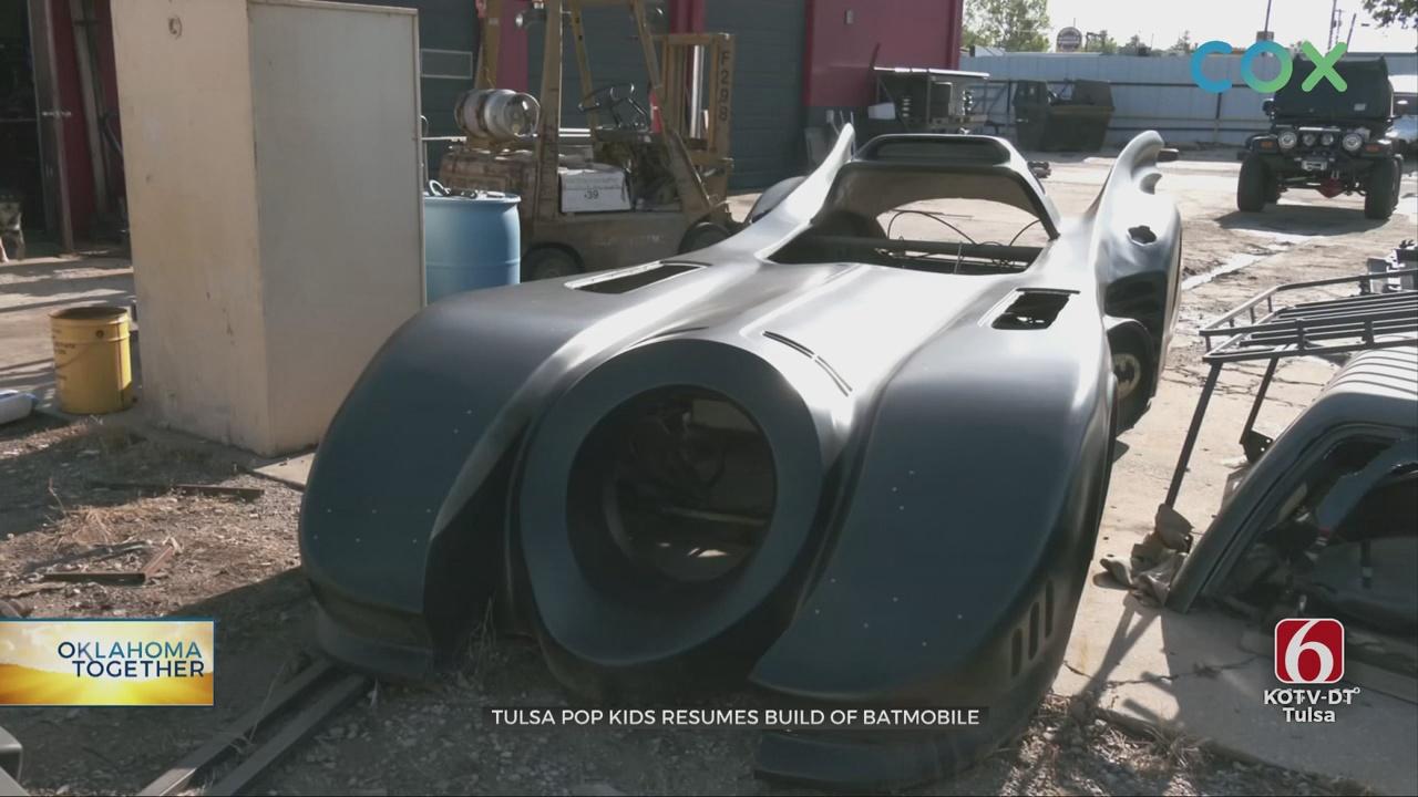 Oklahoma Together: Tulsa Pop Kids Volunteers Continue Work On Batmobile Project