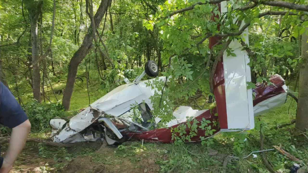 OHP Troopers Respond To Ultralight Aircraft Crash Near Haskell