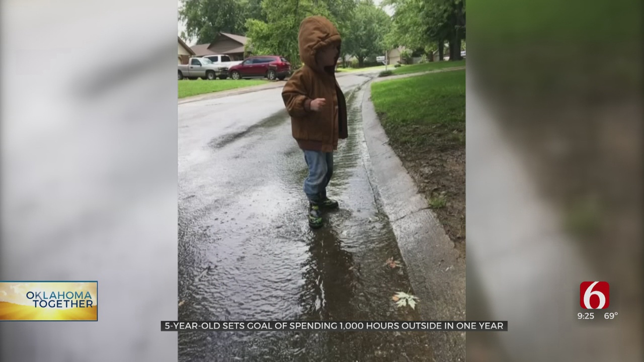 5-Year-Old Oklahoma Boy Sets Goal Of Spending 1,000 Hours Outside In A Year