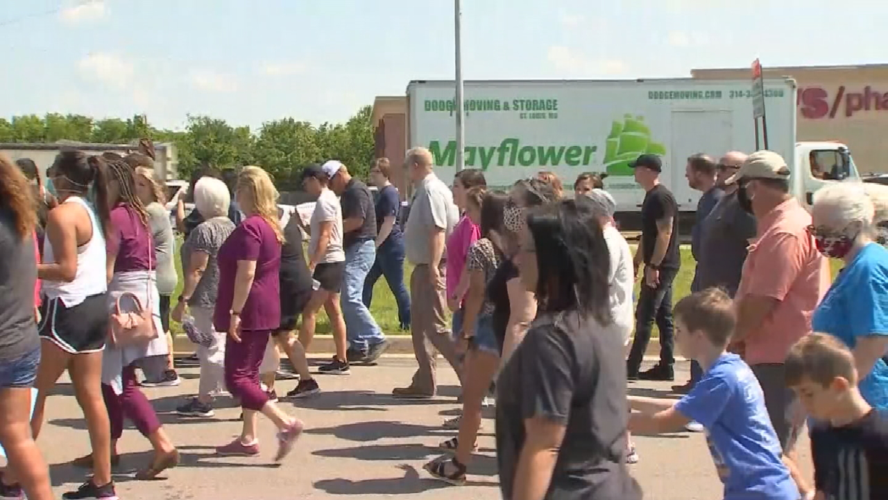 Peaceful Protesters March Through McAlester To Show Solidarity