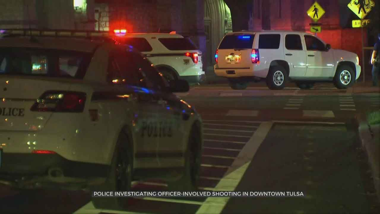 Police Investigate Officer-Involved Shooting In Downtown Tulsa
