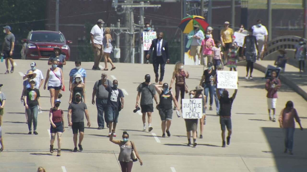 """Tulsa Religious Leaders Pray At """"Unity Over Violence Prayer March"""""""